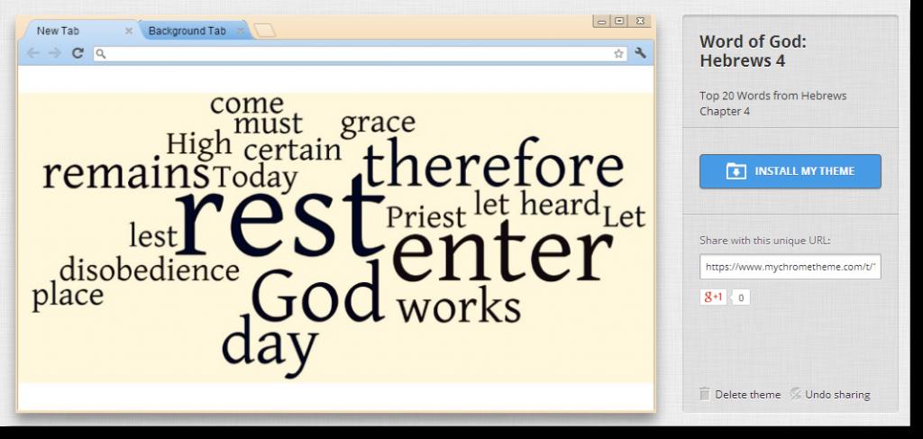 Google Chrome Theme: Word of God Hebrews 4 – BIBLEFreak org: